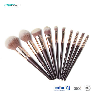 Synthetic Hair 12pcs Wooden Handle Makeup Brushes