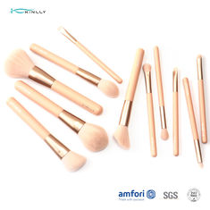 Poly Bag Wooden Handle 12pcs Cosmetic Makeup Brush Set