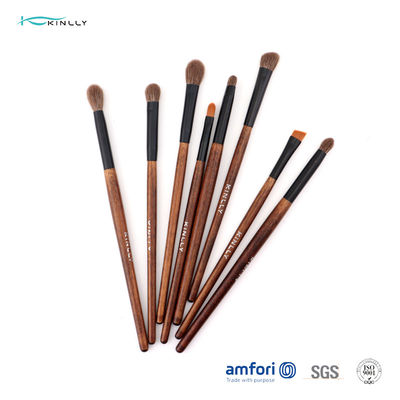 Colored 12pcs ISO9001 Wooden Handle Makeup Brushes