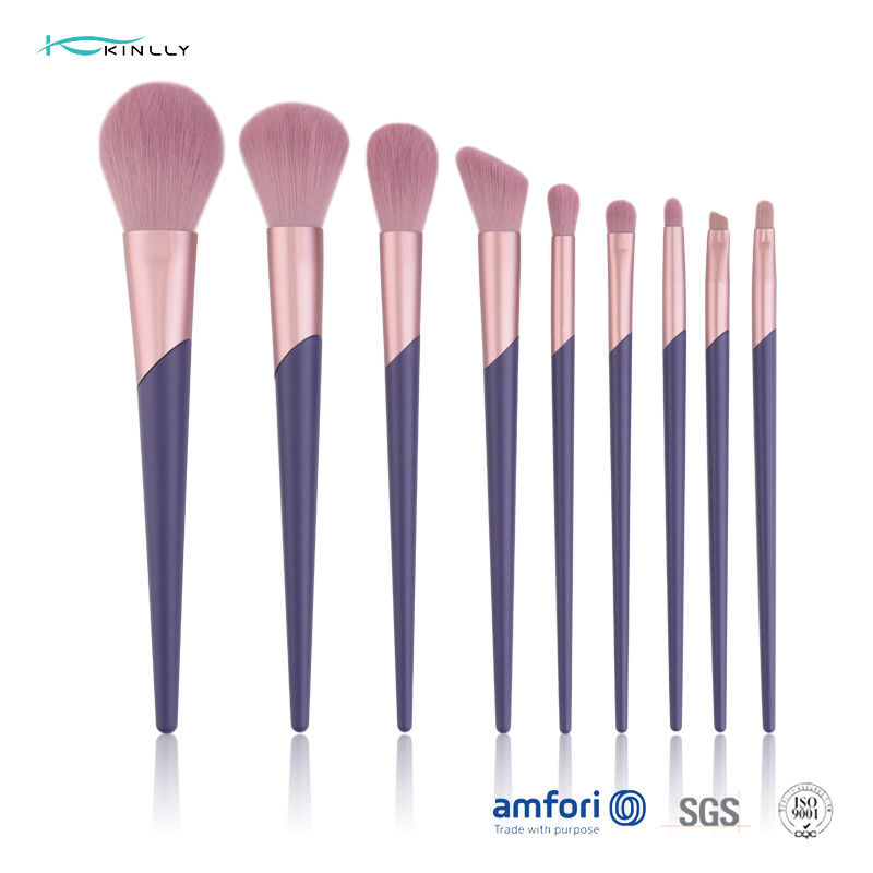 ODM 9pcs Purple Gift Box Cute Makeup Brush Set